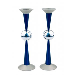 Agayof The Ball Series Modern Aluminum Candlesticks - Blue