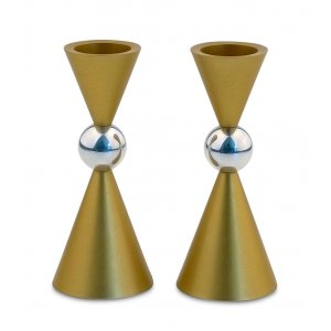 Agayof Mini Ball Series Aluminum Candlesticks - Gold