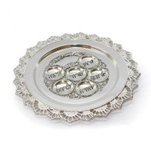 Round Silver Plated Passover Seder Plate