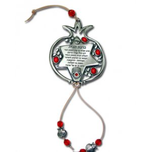 Yealat Chen Decorative Metal Home Blessing in Pomegranate and Star of David