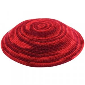 Fiery Red DMC Knitted Kippah