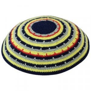 Colorful Stripe DMC Knitted Kippah