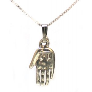 Sterling Silver Hamsa with the letter Hey