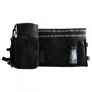 Set, Insulated Tefillin Holder and Weatherproof Tallit Bag - Black