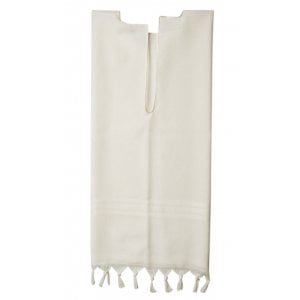 Talitnia Wool Tallit Katan - White Stripes