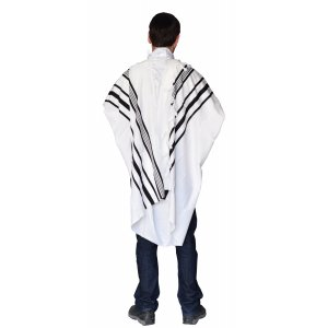 Talitnia Gilboa Light Weight Non Slip Tallit Wool Prayer Shawl - Black Stripes
