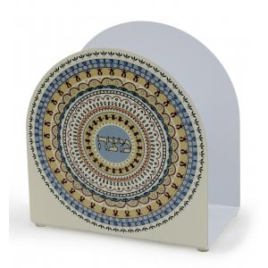Dorit Judaica Upright Arch Matzah Holder - Circular Pomegranate Design