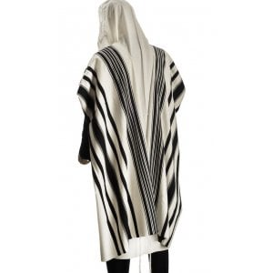 Talitnia Prima AA Tallit Premium Pure Wool Prayer Shawl - Black Stripes