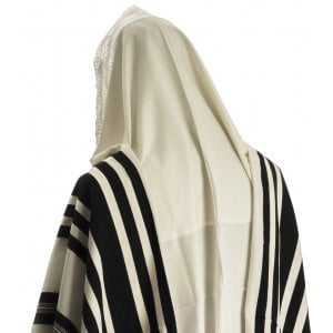 Turkish Style - Like Tunisa - Tallit Prayer Shawl with Black Stripes