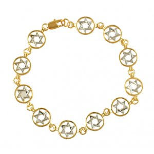 Two Tone Star of David Gold filled bracelet