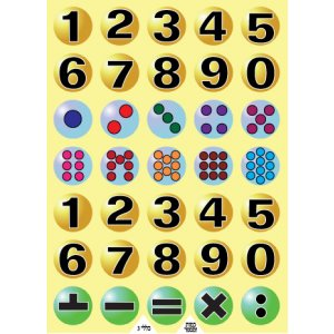 Numbers and Hebrew vowel Stickers