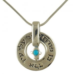 Rhodium Necklace against the evil eye