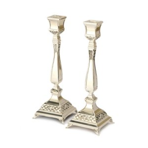 Nickel decorative Candlesticks