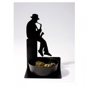 Coin Holder- Saxophonist