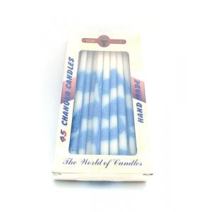 Dripless Hanukkah Candles - Blue and White