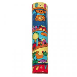 Yair Emanuel Large Hand Painted Wood Mezuzah Case - Children's Design