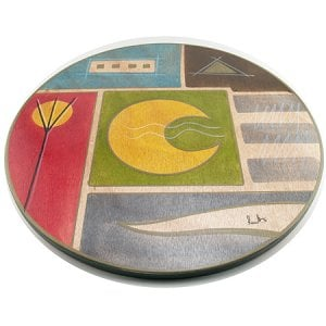 Lazy Susan Yellow Moon by Kakadu Art