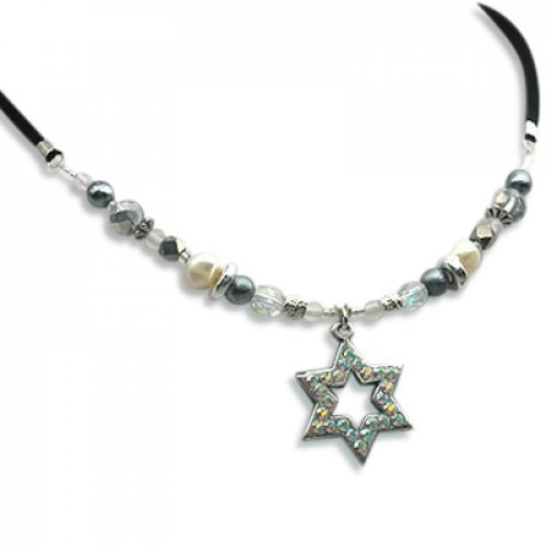 Star of David Sparkle Necklace by Edita