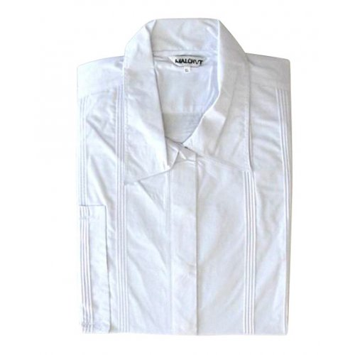White Cotton Polyester Kittel Robe - Classic Design